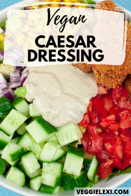 Creamy and delicious vegan Caesar dressing will take your salads to the next level! Ever better, it's oil free. - by Veggie Lexi