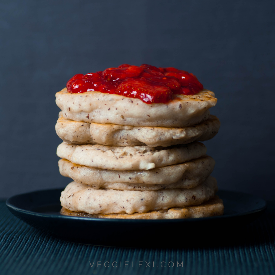 Strawberry Lemon Sauce with Vegan Gluten Free Panckes