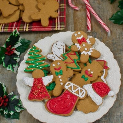 Vegan Gluten Free Gingerbread Men with Icing